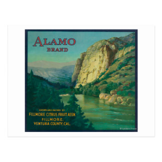 Alamo Orange LabelFillmore, CA Postcard