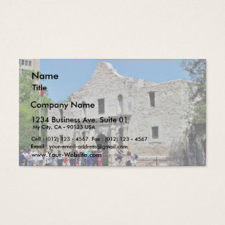 Alamo San Antonio Forts Texas Business Card