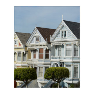Alamo Square Victorian Houses in San Francisco Acrylic Wall Art