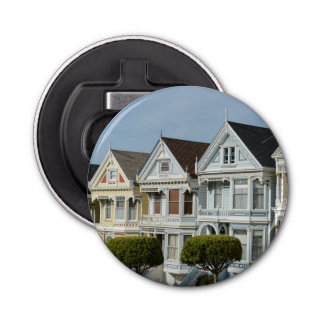 Alamo Square Victorian Houses in San Francisco Bottle Opener