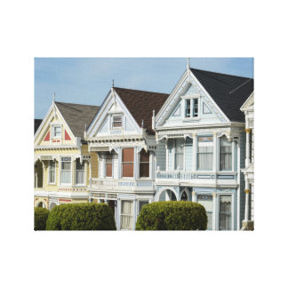 Alamo Square Victorian Houses in San Francisco Canvas Print