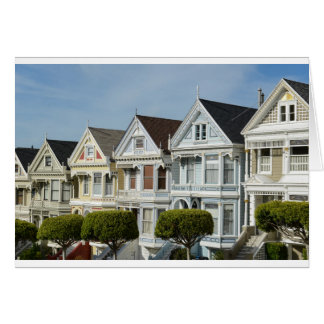 Alamo Square Victorian Houses in San Francisco Card