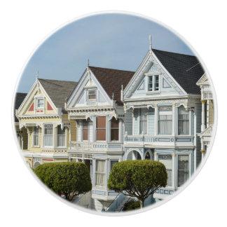 Alamo Square Victorian Houses in San Francisco Ceramic Knob
