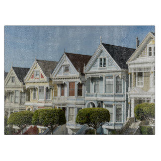 Alamo Square Victorian Houses in San Francisco Cutting Board