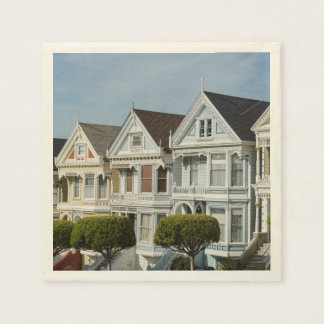 Alamo Square Victorian Houses in San Francisco Disposable Napkins