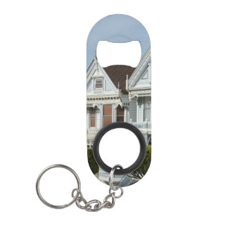 Alamo Square Victorian Houses in San Francisco Keychain Bottle Opener
