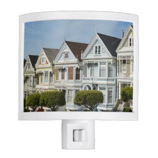 Alamo Square Victorian Houses in San Francisco Nite Lite