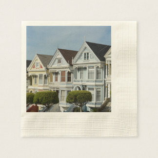 Alamo Square Victorian Houses in San Francisco Paper Napkins