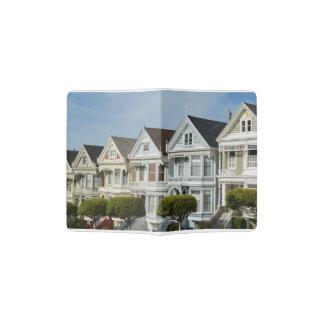 Alamo Square Victorian Houses in San Francisco Passport Holder
