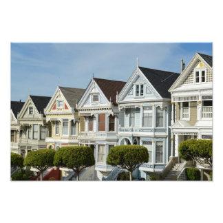 Alamo Square Victorian Houses in San Francisco Photo Print