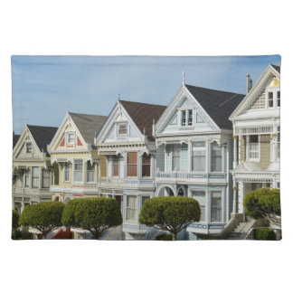 Alamo Square Victorian Houses in San Francisco Placemat