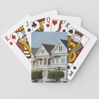 Alamo Square Victorian Houses in San Francisco Playing Cards