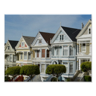 Alamo Square Victorian Houses in San Francisco Poster