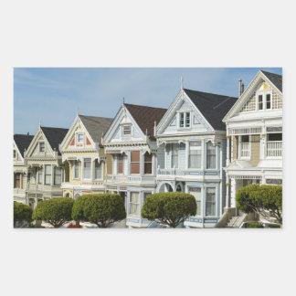 Alamo Square Victorian Houses in San Francisco Sticker