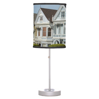 Alamo Square Victorian Houses in San Francisco Table Lamp