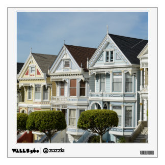 Alamo Square Victorian Houses in San Francisco Wall Decal