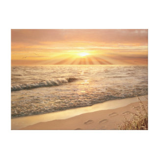 """Alan Giana """"Footprints in the Sand"""" Canvas Print"""