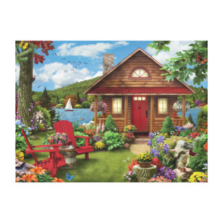 "Alan Giana ""Lakeside Retreat"" Canvas Print"