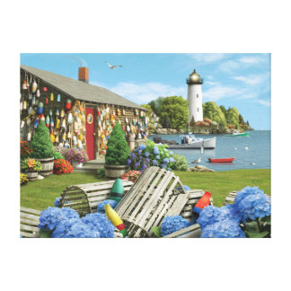 "Alan Giana ""Lobster Cove 2"" Canvas Print"