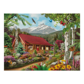 "Alan Giana ""Mountain Hideaway"" Poster"