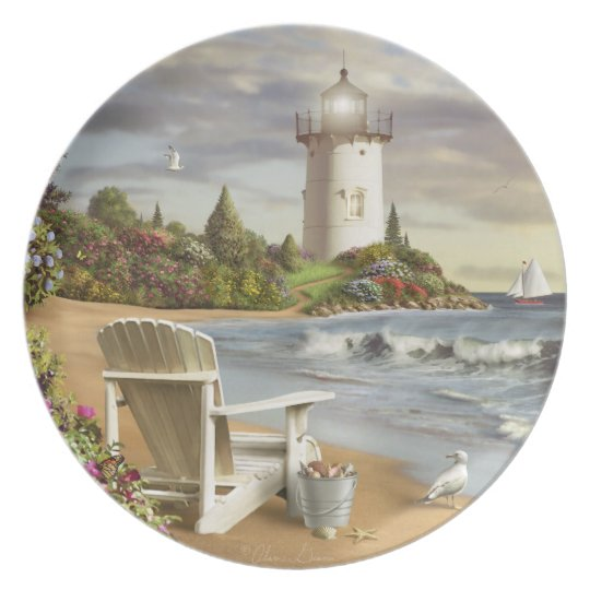 "Alan Giana ""The Perfect Place"" Melamine Plate"
