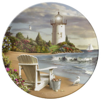 "Alan Giana ""The Perfect Place"" Porcelain PlateThis Plate"