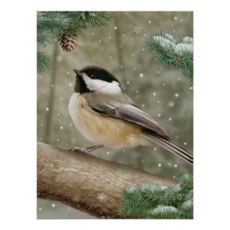 "Alan Giana ""Winter Chickadee"" Poster"