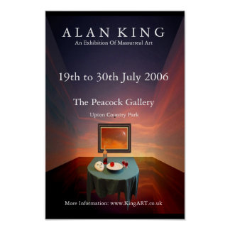 Alan King - Peacock Exhibition Poster