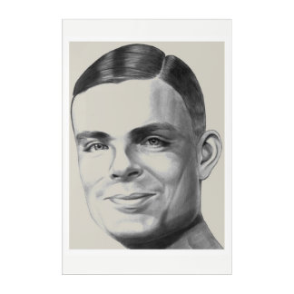 Alan Turing Acrylic Wall Art
