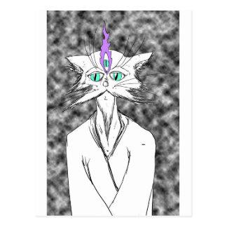 Alan Watts Cat Postcard