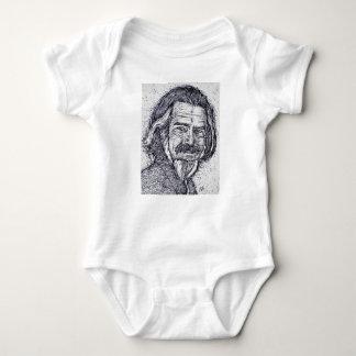 ALAN WATTS - ink portrait Baby Bodysuit
