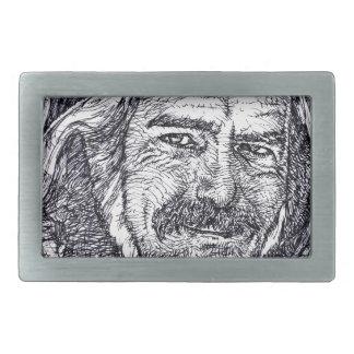 ALAN WATTS - ink portrait Belt Buckle