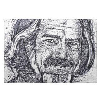 ALAN WATTS - ink portrait Placemat