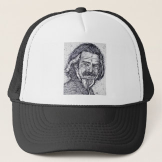 ALAN WATTS - ink portrait Trucker Hat