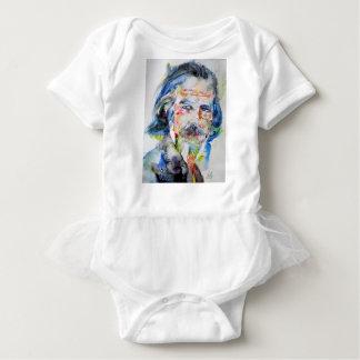 alan watts - watercolor portrait.3 baby bodysuit