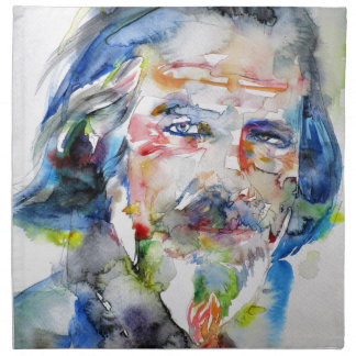 alan watts - watercolor portrait.3 napkin