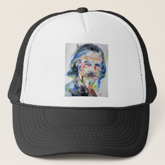 alan watts - watercolor portrait.3 trucker hat