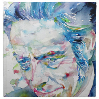 ALAN WATTS - watercolor portrait.5 Napkin
