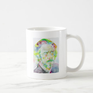 alan watts - watercolor portrait coffee mug