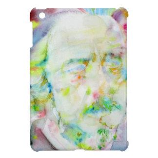 alan watts - watercolor portrait iPad mini cases