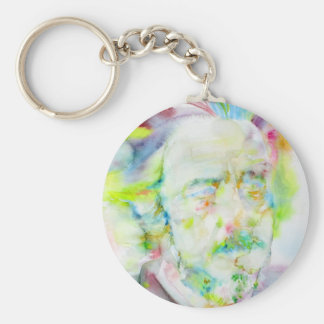 alan watts - watercolor portrait keychain