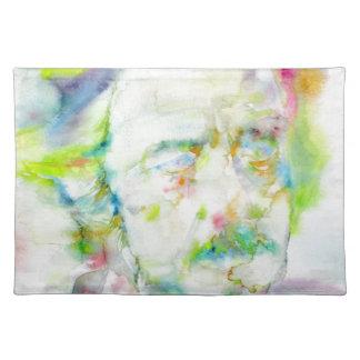 alan watts - watercolor portrait placemat