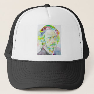 alan watts - watercolor portrait trucker hat