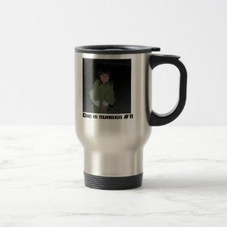 Alanabeach, Dad is number #1! Travel Mug