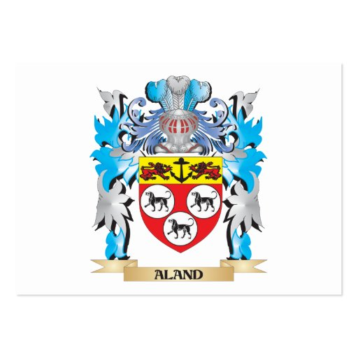 Aland Coat Of Arms Business Card Templates