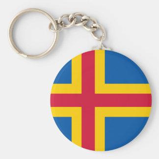 Åland Flag Basic Round Button Keychain