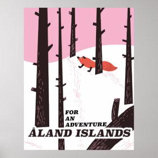 Åland Islands, Finland travel poster