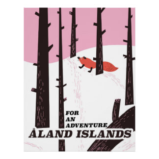 Åland Islands, Finland travel poster