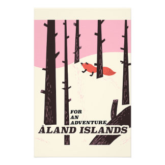 Åland Islands, Finland travel poster Stationery