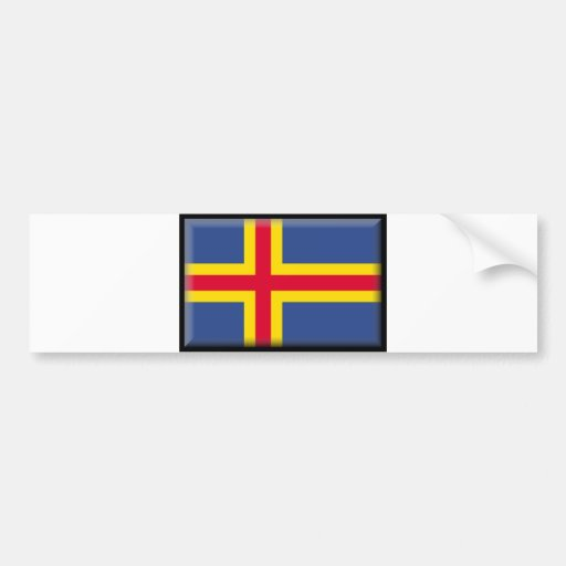Aland Islands Flag Bumper Sticker